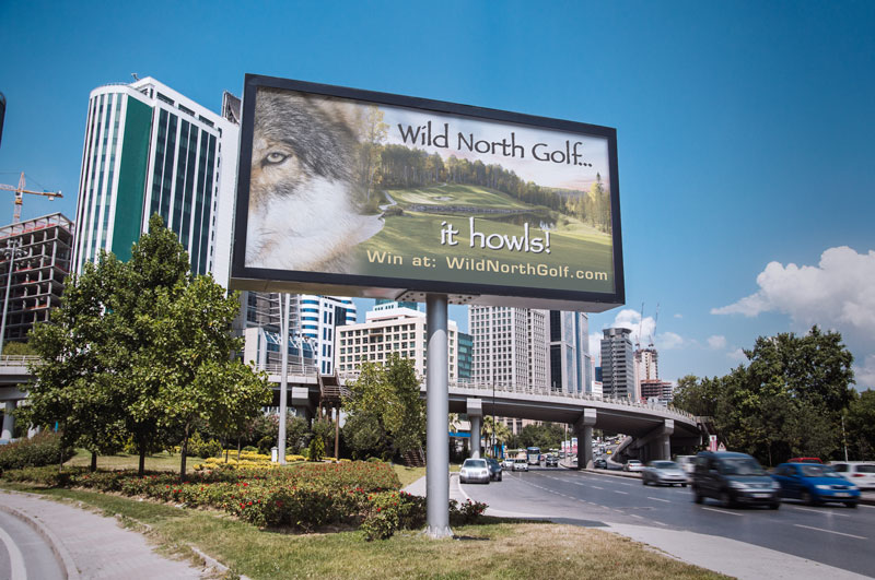 Wild North Golf Billboard