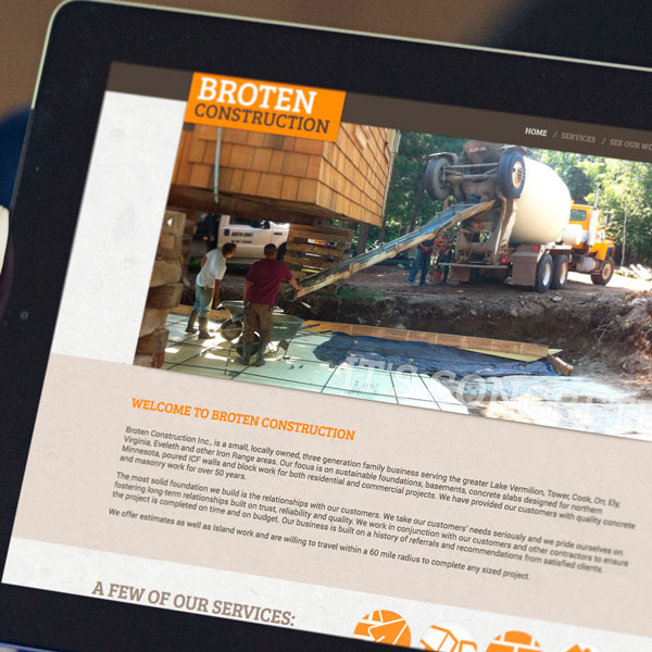 Broten Construction Website