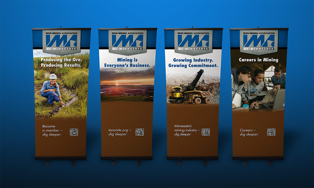 Iron Mining Association Retractable Banners