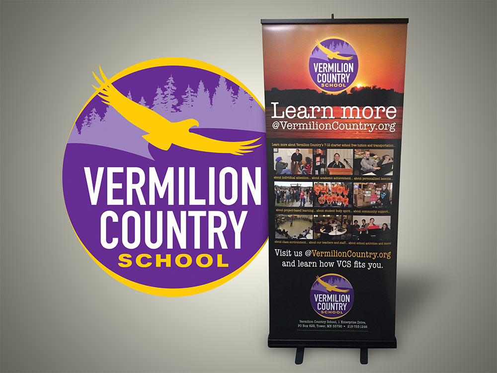 Vermilion Country School Retractable Banner